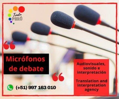 Equipo sonido / micrófonos conferencias LIMA / 997163010