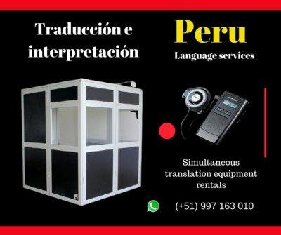 Alquiler cabinas para traducción en Lima ✅ C. 997163010
