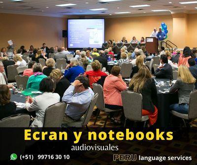 Alquiler de ecranes y notebooks para eventos LIMA