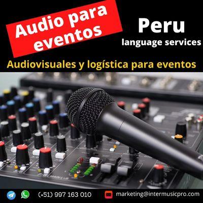 Alquiler equipo sonido eventos/ conferencias LIMA /997163010