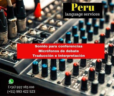 Equipo de sonido conferencias en LIMA / micrófonos diversos