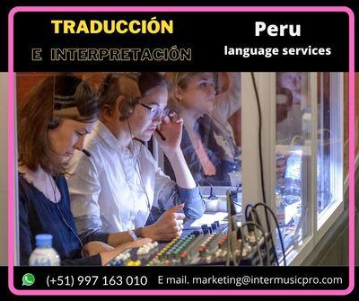 ✅ English to spanish translation /conferences equipment LIMA