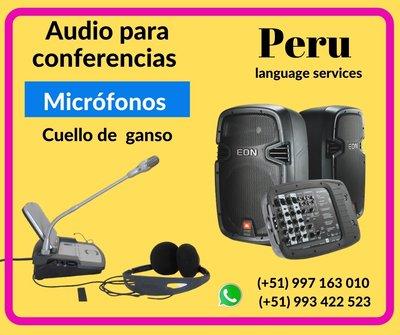 Equipo sonido conferencias LIMA / ✅ C. (+51) 997163010