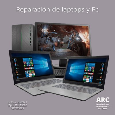 Reparación de Laptops y PC