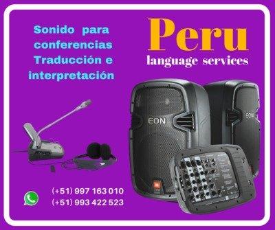 Equipos sonido para conferencias Lima Perú