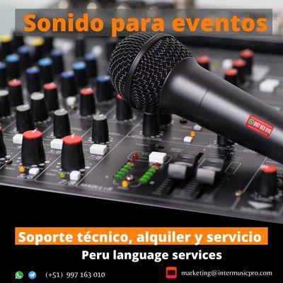 Equipo sonido para eventos en LIMA /cel. 997160310