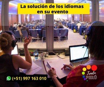 Traductores de Idiomas con equipos, cabinas Lima/ Piura/Peru